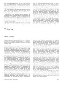 EKISTICS: Tribute