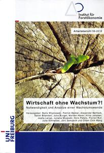 """Cover """"Wirtschaft ohne Wachstum"""